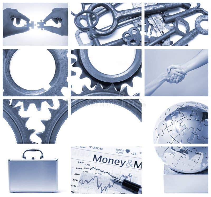 praca zespołowa jednostek gospodarczych ilustracji