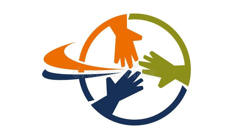 Praca zespołowa loga projekta Biznesowy szablon royalty ilustracja