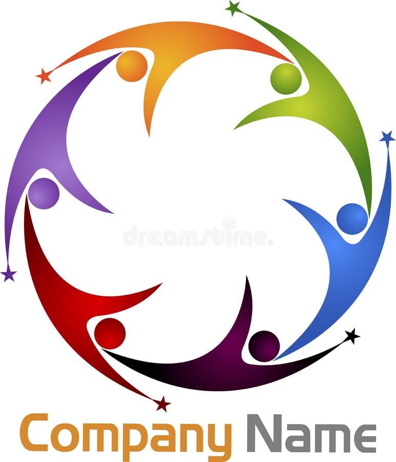 Praca zespołowa logo royalty ilustracja