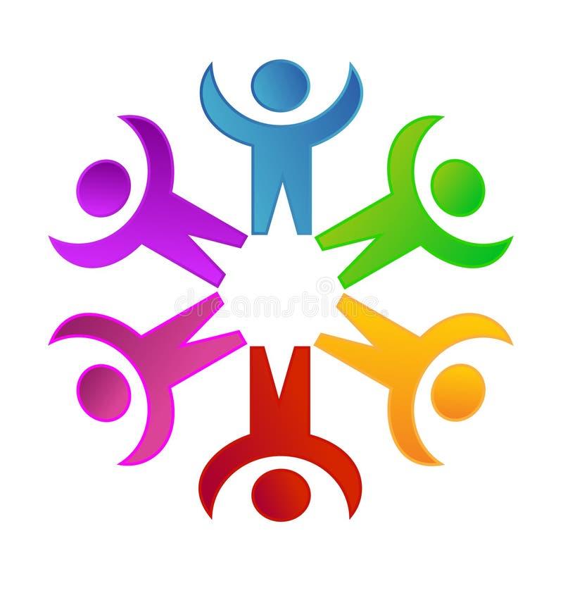 Praca zespołowa networking jedności pojęcia wektoru ikony ogólnospołeczni ludzie ilustracja wektor
