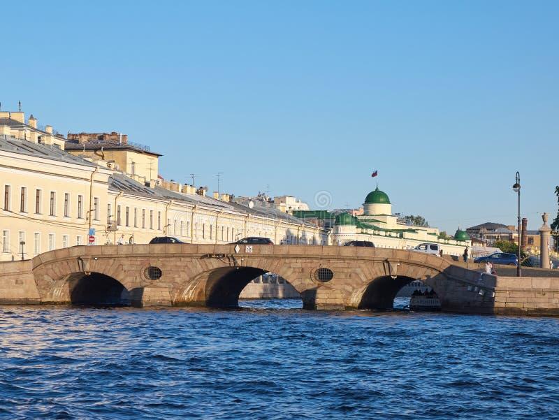 Prachechny Laundry Bridge in Saint Petersburg, Russia royalty free stock photography