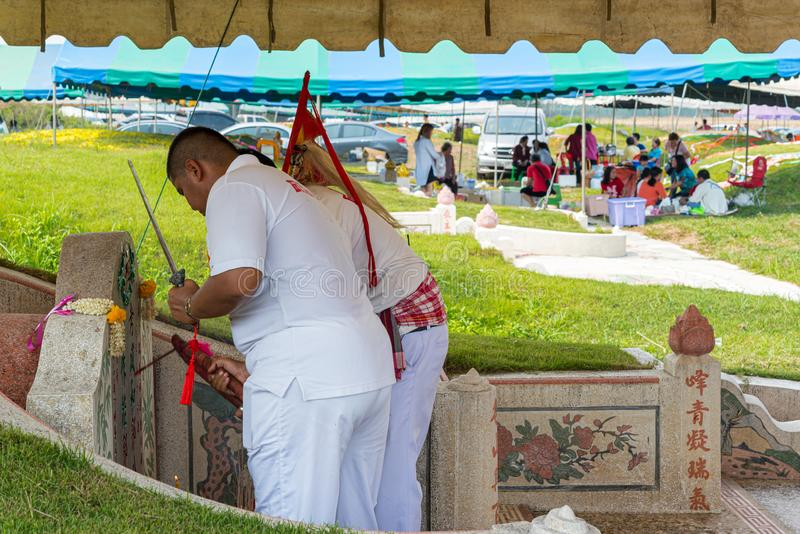 Qingming Festival Qing Ming, Tomb-Sweeping Day stock photo