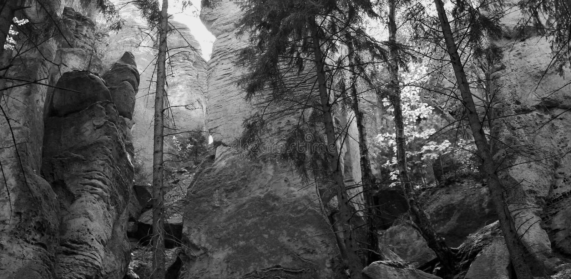 The Prachov Rocks area royalty free stock photo