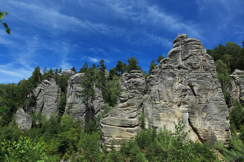 Prachov Rocks. The rock town Prachov Rocks in Czech Republic royalty free stock photos