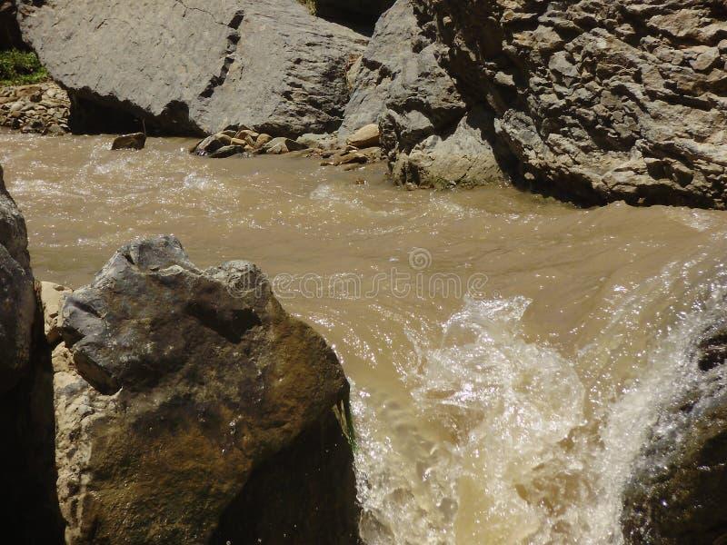 Pracht von Gebirgsflüssen stockbilder