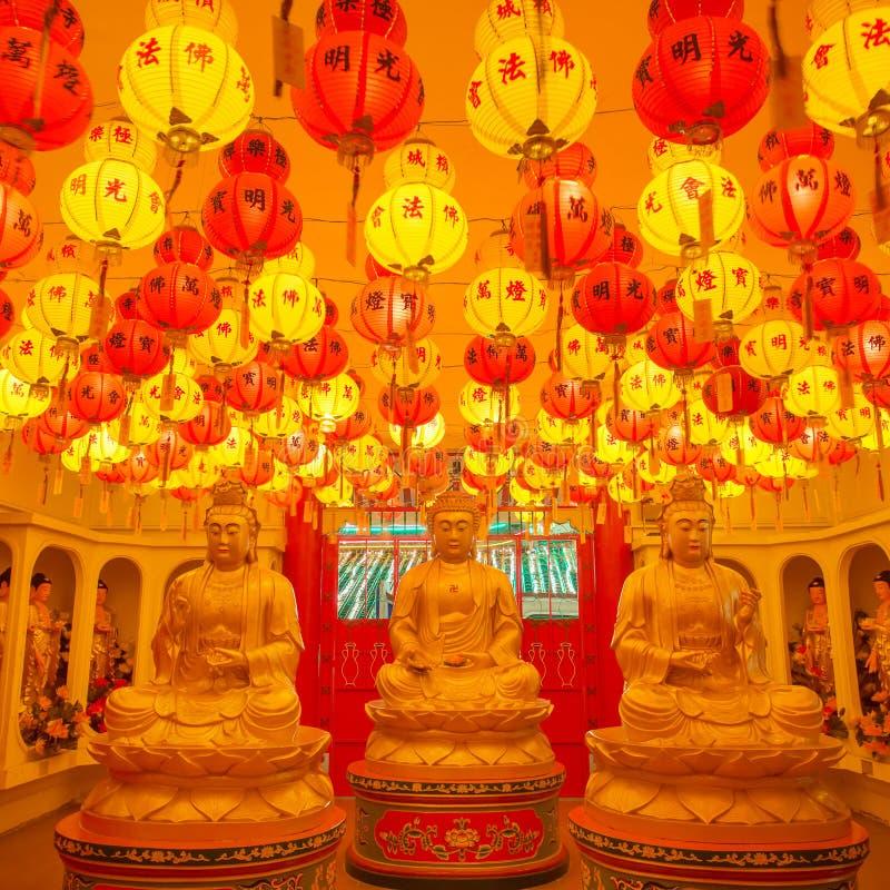 Prachtig aan:steken-op de tempel van Kek Lok Si in Penang royalty-vrije stock foto