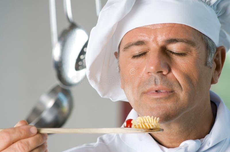 Prachtig aroma van vers voedsel! stock foto