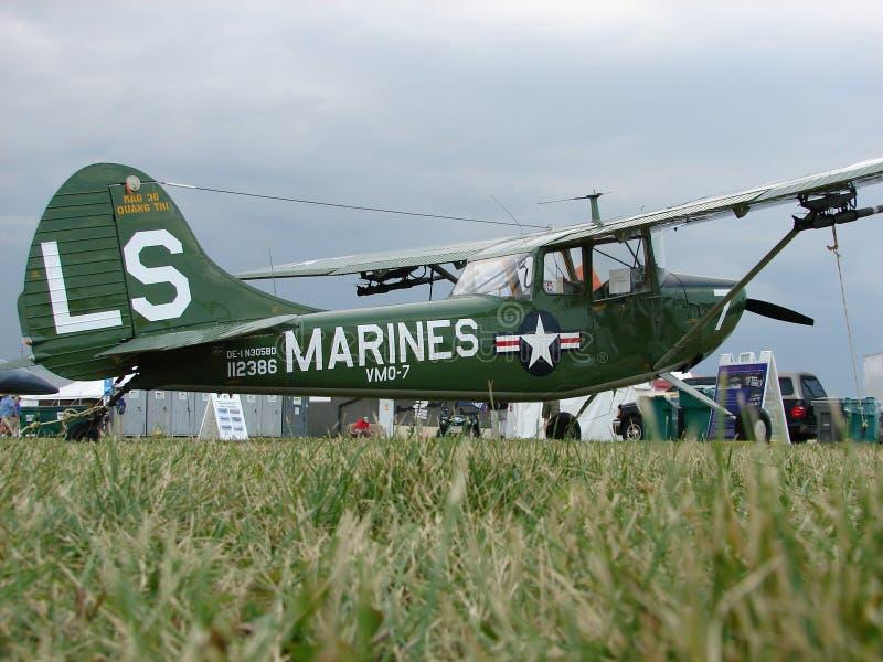 Prachtig hersteld WO.II-Leger Cessna l-19 Jachthond royalty-vrije stock foto's