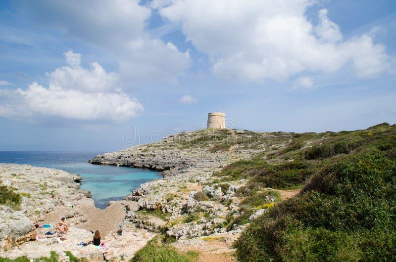 Prachtig landschap in Alcaufar-watchtower royalty-vrije stock afbeeldingen