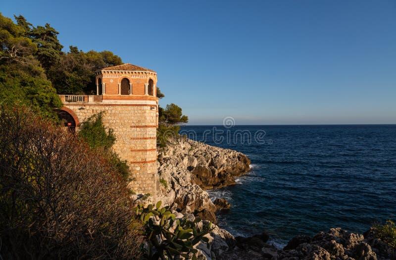Prachtig landschap van de Cote d'Azur Menton, Frankrijk stock afbeeldingen