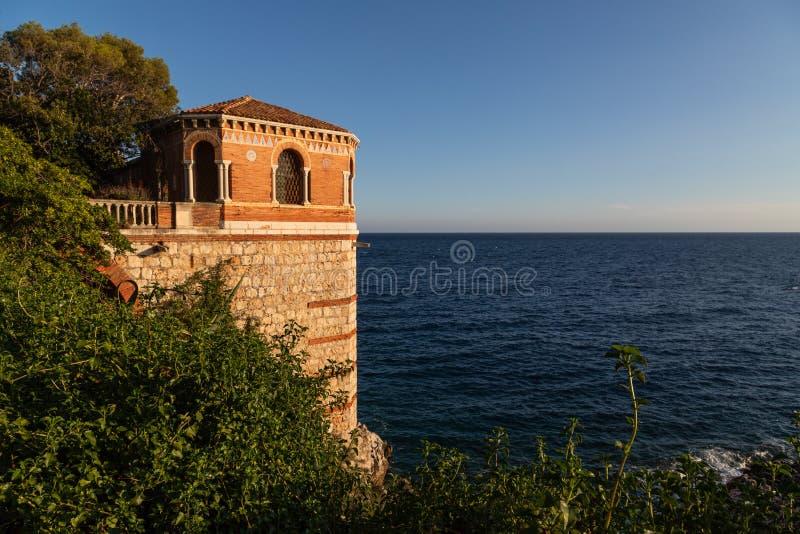 Prachtig landschap van de Cote d'Azur Menton, Frankrijk royalty-vrije stock foto's