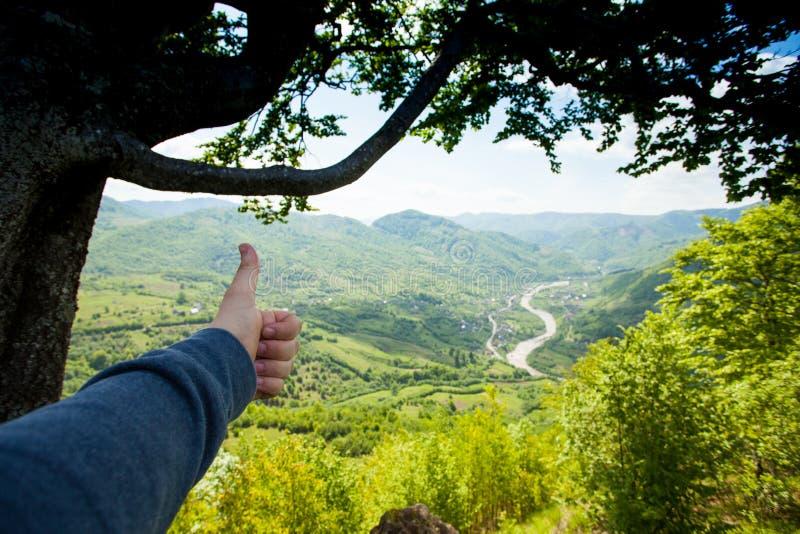 Prachtig landschap van groene moutain royalty-vrije stock afbeeldingen