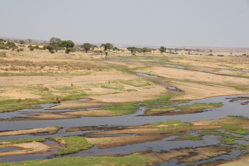 Prachtig mening van ruaharivier bij ruaha nationaal park royalty-vrije stock afbeeldingen