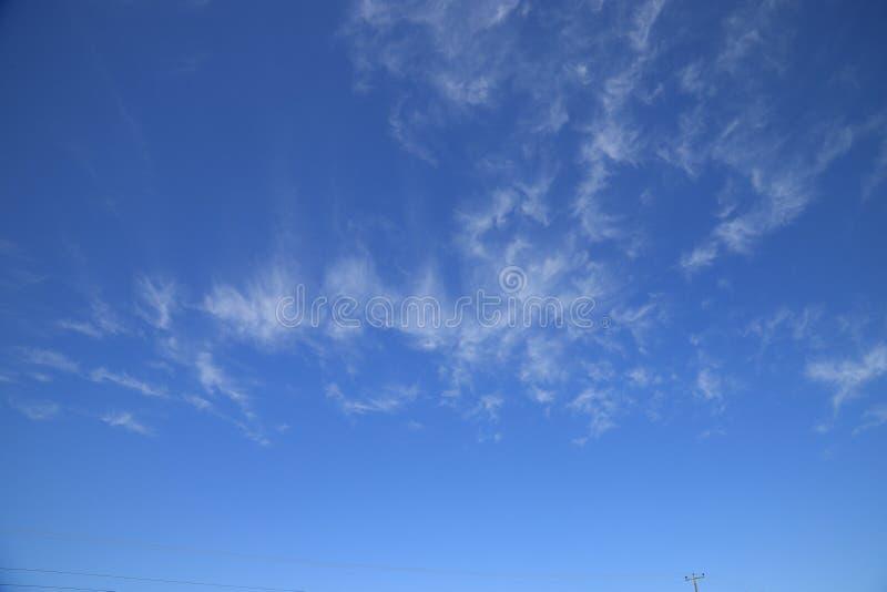 Prachtige blauwe hemel in Santo Angelo Brazil royalty-vrije stock afbeeldingen