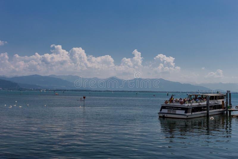 Prachtige de zomerdag in lindauam bodensee royalty-vrije stock foto