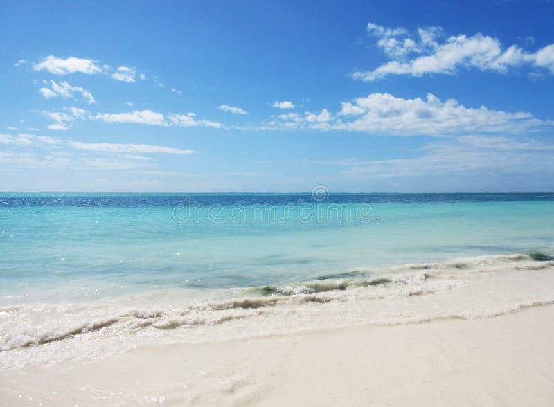 Prachtige oceaanmening in Zanzibar royalty-vrije stock afbeelding