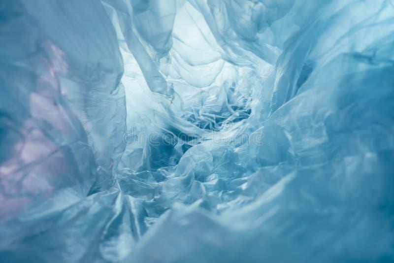 Prachtige plastic zak abstracte achtergrond Geen plastic zakontwerp, bespaar de wereld, bescherm aarde royalty-vrije stock foto