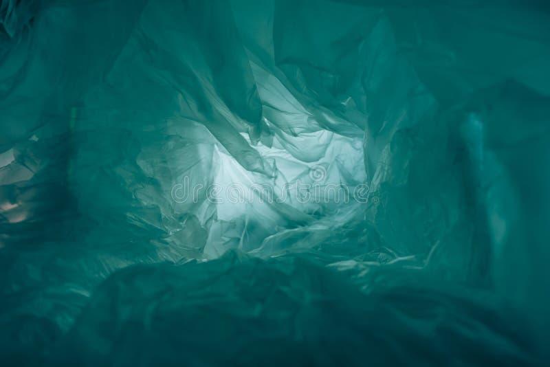 Prachtige plastic zak abstracte achtergrond Geen plastic zakontwerp, bespaar de wereld, bescherm aarde royalty-vrije stock foto's