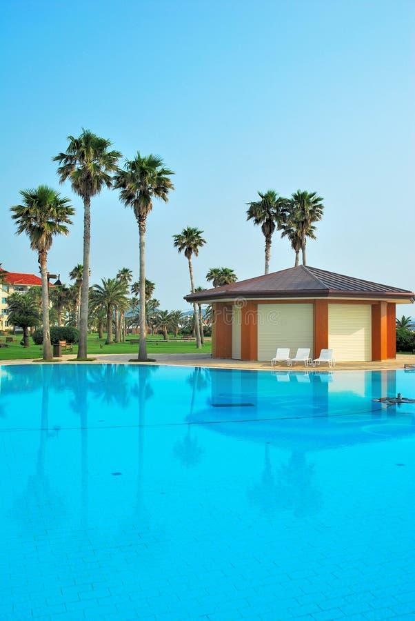 Prachtige pool van een toevluchthotel royalty-vrije stock fotografie
