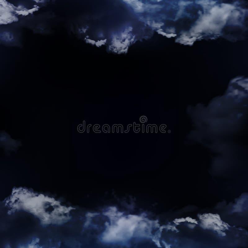 Prachtige realistische onweerswolken op de achtergrond van de nacht royalty-vrije stock fotografie