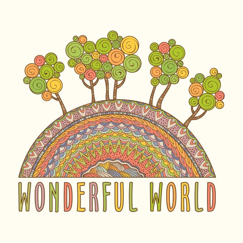 Prachtige Wereld royalty-vrije illustratie