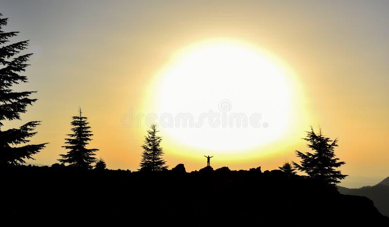prachtige zonsopgangmeningen royalty-vrije stock foto's