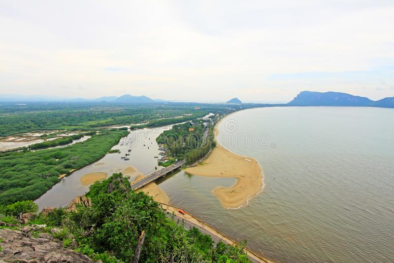 Prachuap Khiri Khan Seaside, Thailand. Prachuap Khiri Khan is one of the western provinces of Thailand stock photos