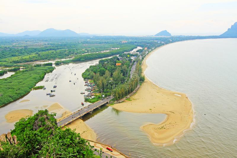 Prachuap Khiri Khan Seaside, Thailand. Prachuap Khiri Khan is one of the western provinces of Thailand stock images