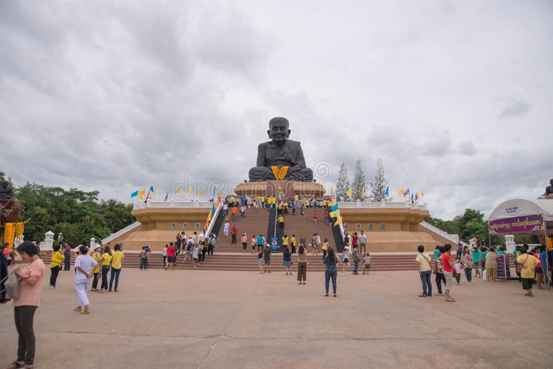 Prachuap Khiri Khan,Thailand - June 12 , 2016: People in thai temple. For editorial use only. Prachuap Khiri Khan,Thailand - June 12 , 2016:A lot of people in royalty free stock photos