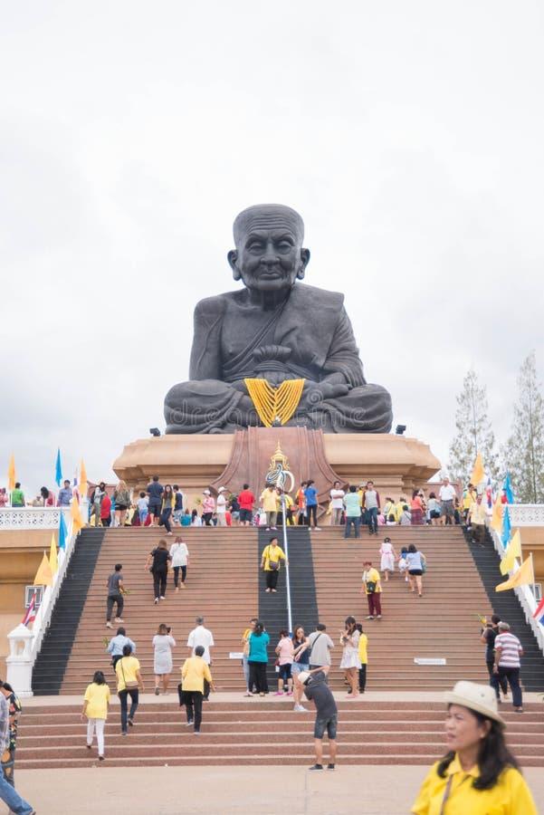Prachuap Khiri Khan,Thailand - June 12 , 2016: People in thai temple. For editorial use only. Prachuap Khiri Khan,Thailand - June 12 , 2016:A lot of people in stock images