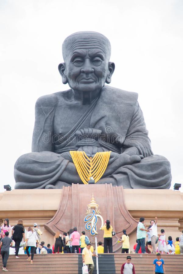 Prachuap Khiri Khan,Thailand - June 12 , 2016: People in thai temple. For editorial use only. Prachuap Khiri Khan,Thailand - June 12 , 2016:A lot of people in stock photos