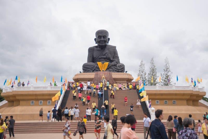 Prachuap Khiri Khan,Thailand - June 12 , 2016: People in thai temple. For editorial use only. Prachuap Khiri Khan,Thailand - June 12 , 2016: People in thai royalty free stock photos