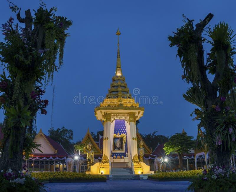 PRACHUAP KHIRI KHAN THAILAND - OCT 27.2017: Koning Bhumibol Adul royalty-vrije stock fotografie