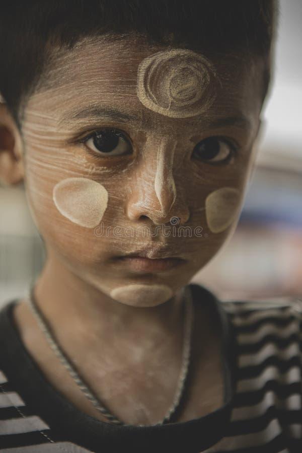 Prachuap Khiri Khan Thailand - september14,2018: Abschluss herauf Gesicht stockfotografie