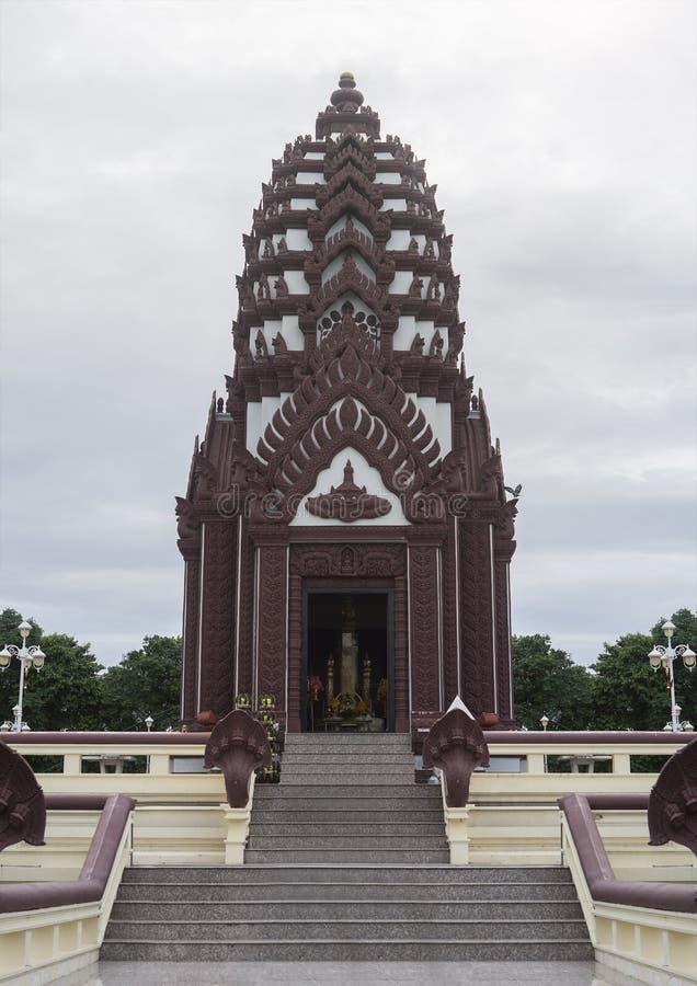 Prachuapkhirikhan THAILAND-july 27,2016 : the Pillar shrine of prachuapkhirikhan province,thailand,most beautiful pillar shrine. Of thailand royalty free stock image