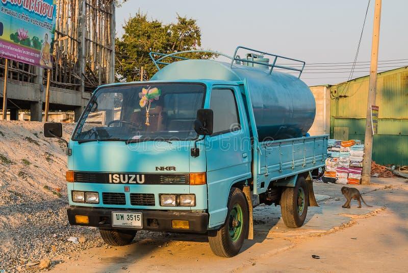 PRACHUP KHIRI KHAN, TAILANDIA - 11 FEBBRAIO: Toilette dell'automobile su Febr fotografie stock libere da diritti
