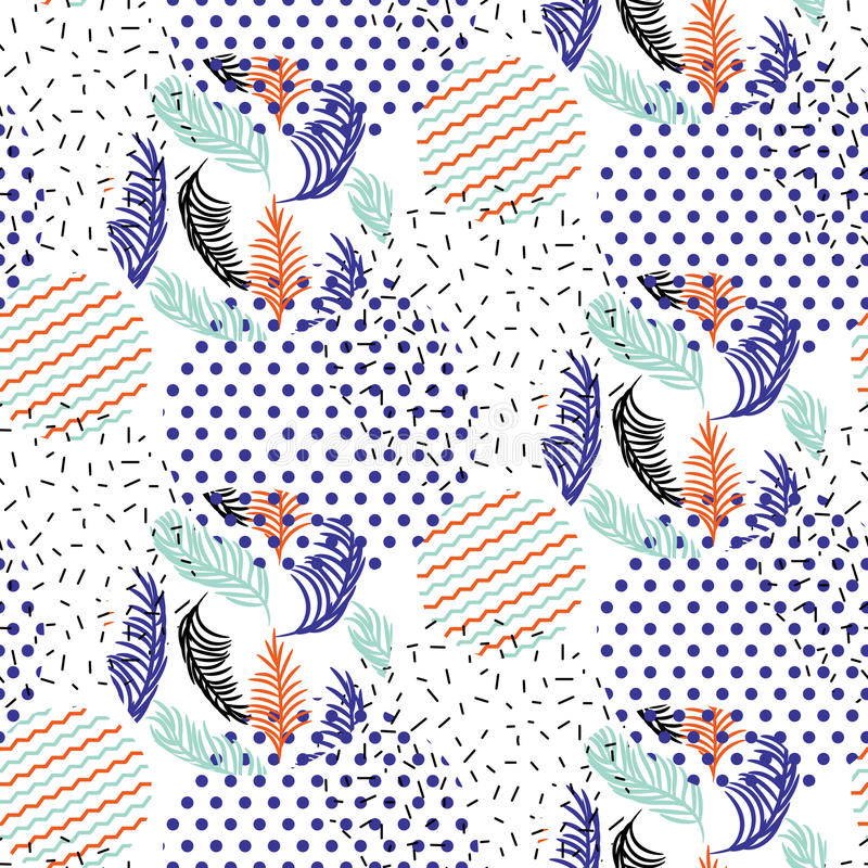 Prack abstrakta geometriska former och gjorde randig sidor cirklar vektormodellen stock illustrationer