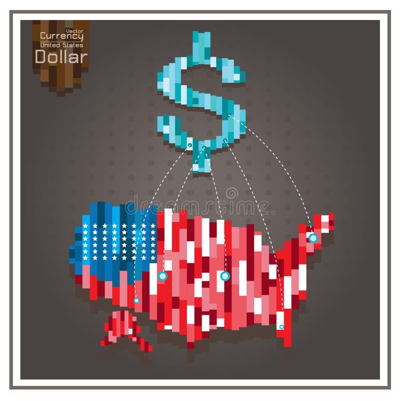 Prack stjärnor för utgifter för dollaren för affärsAmerika pengar fodrar royaltyfri illustrationer