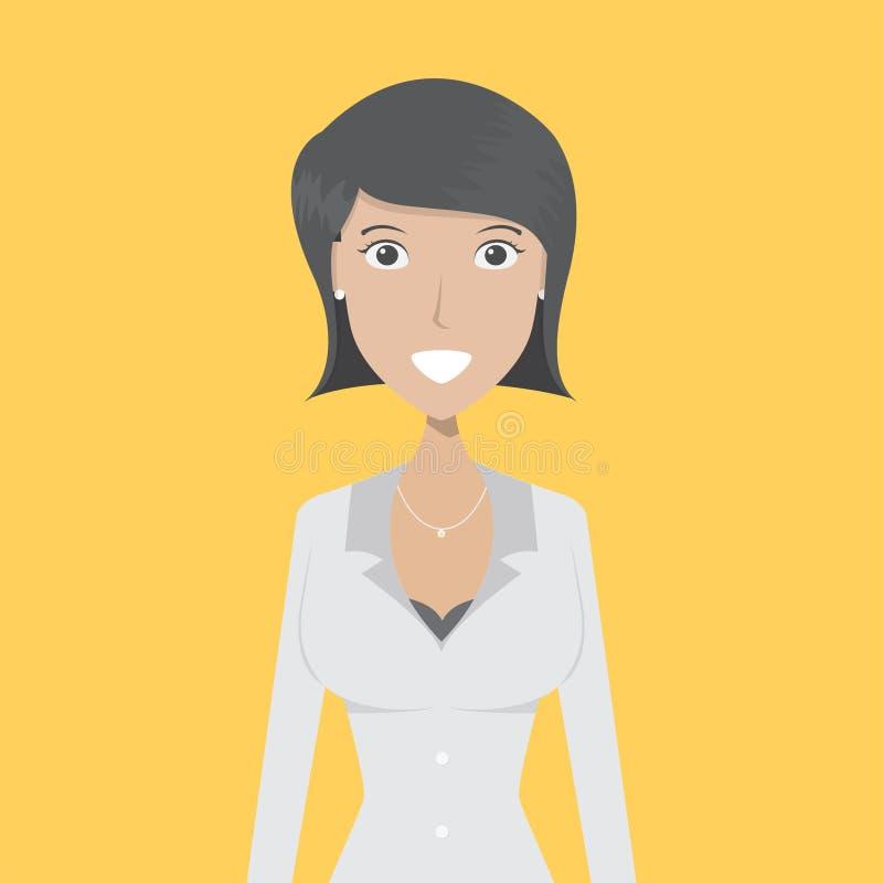Pracodawca charakteru kobieta ilustracji