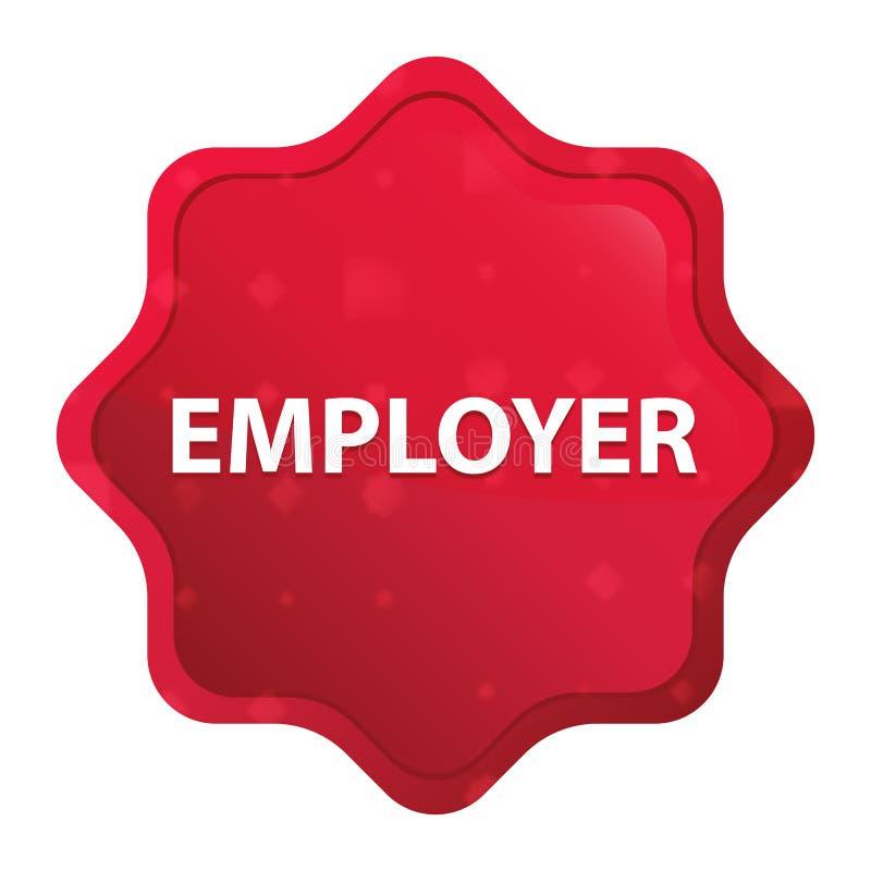 Pracodawcy starburst majcheru mglisty różany czerwony guzik ilustracji