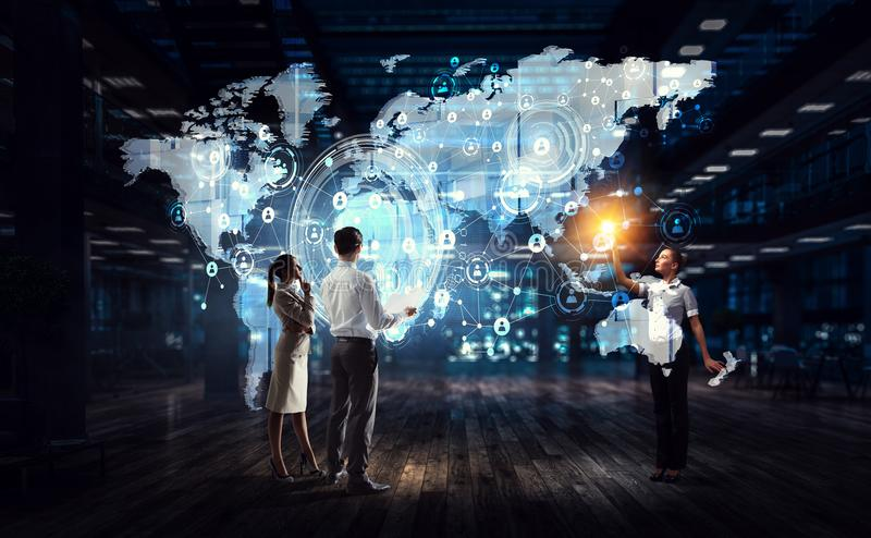 Pracować na strategii globalny biznes zdjęcia royalty free