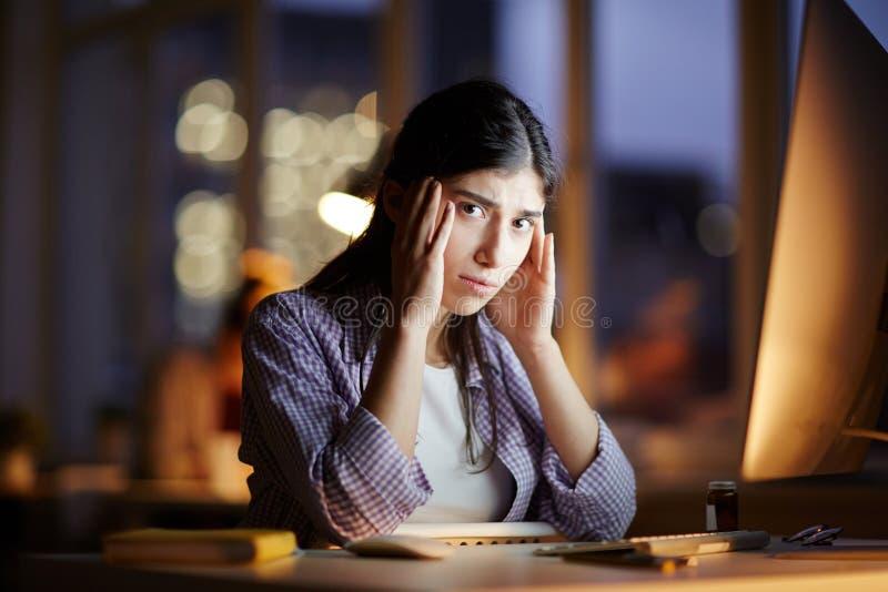 Pracować till noc zdjęcie stock