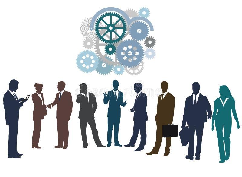 Pracować wpólnie lub networking ilustracji