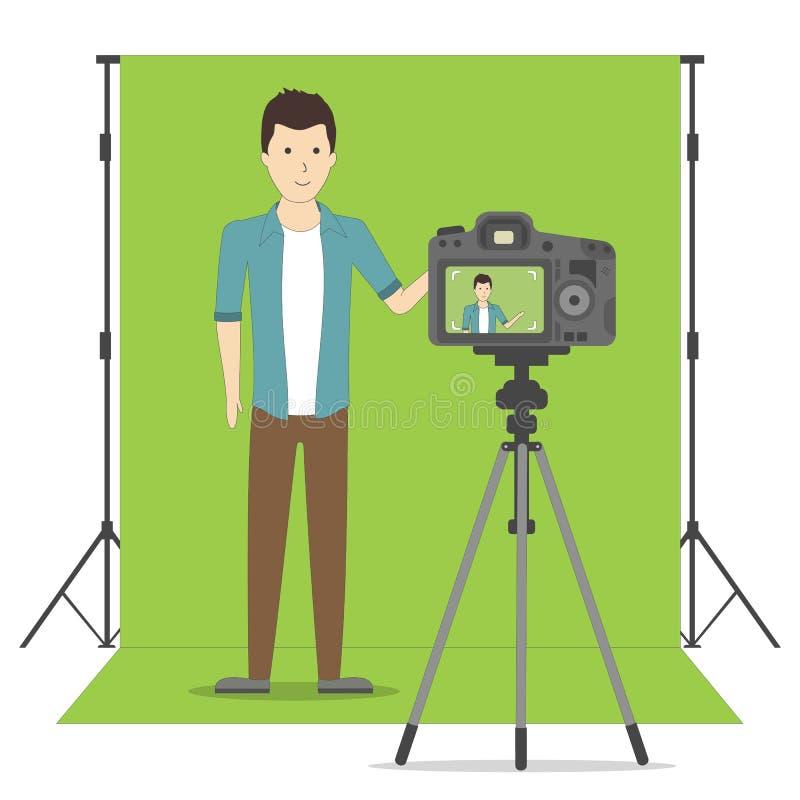 Pracowniany blogu nagranie ilustracji