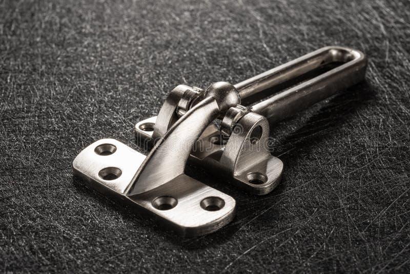 Pracowniany krótkopęd bocznego widoku stali nierdzewnej zbawcza zapadka zdjęcia royalty free