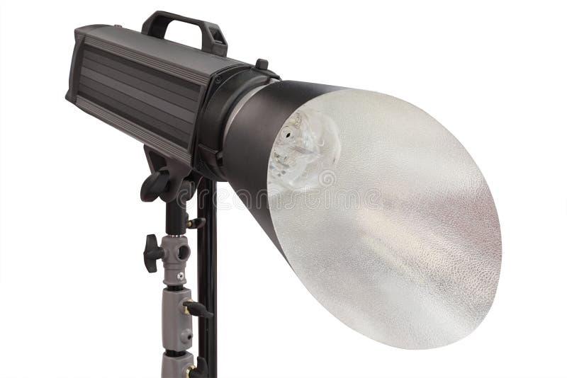 Pracowniany monoblock błysku światło na tripod zdjęcie royalty free