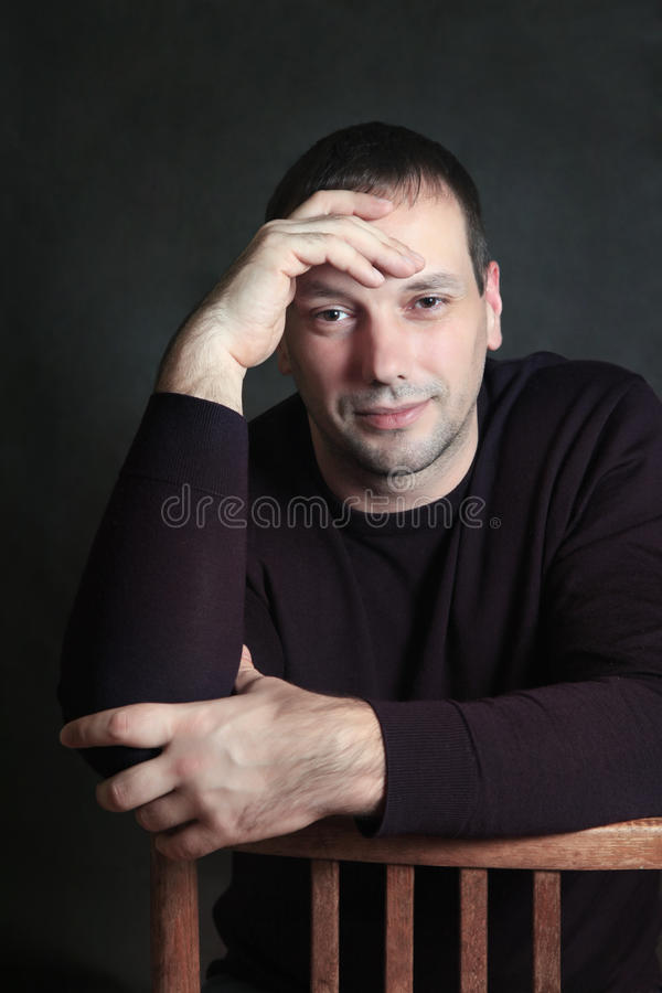 Pracowniany portret mężczyzna fotografia stock