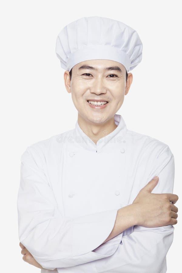 Pracowniany portret szef kuchni zdjęcia stock