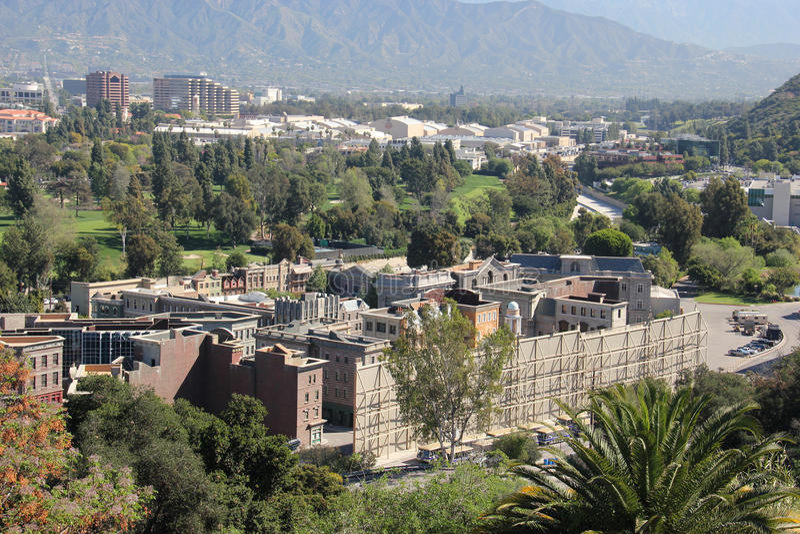 Pracowniany wycieczka turysyczna teren przy universal studio Hollywood obrazy stock