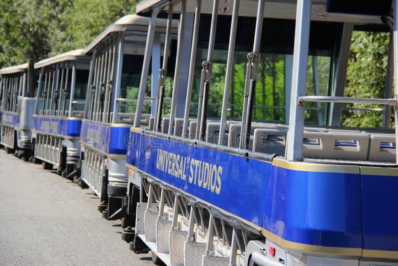 Pracowniany wycieczka turysyczna tramwaj przy universal studio Hollywood obraz stock